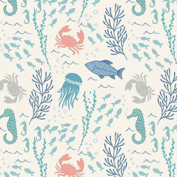 Crib Sheet or Changing Pad Cover | Boy Baby Bedding | Ocean Crib Sheet | Sea Creatures Crib Bedding | Ocean Nursery | Standard or Mini Crib