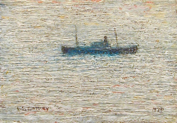 'Waiting For The Tide, South Shields' by LS Lowry.