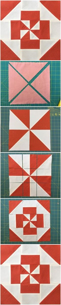 How to make a disappearing pinwheel block Learn how to make his block in less than 2 minutes.