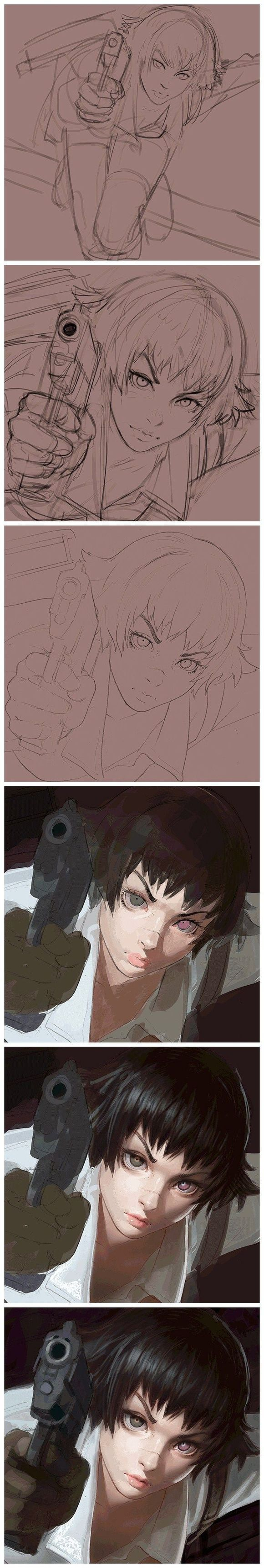 Ilya Kuvshinov [@] works well ... just a good learning materials collected 23 tutorial material chant? (344 Figure) _ petal game via cgpin.com