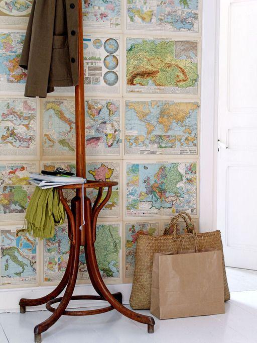 Met een oude atlas (of een ander mooi prentboek) kun je verrassende dingen doen.