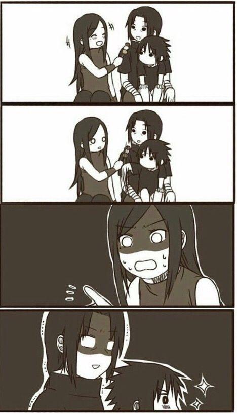 Itachi, Izumi and Little Sasuke