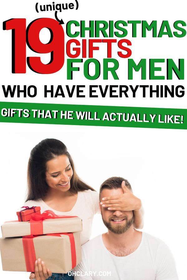 what to get for the man who wants nothing