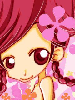 szép koreai rajzfilm lány Kép 2
