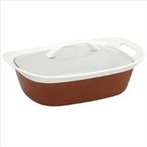 CorningWare Etch 2-1/2-Quart with Glass Cover in Brick