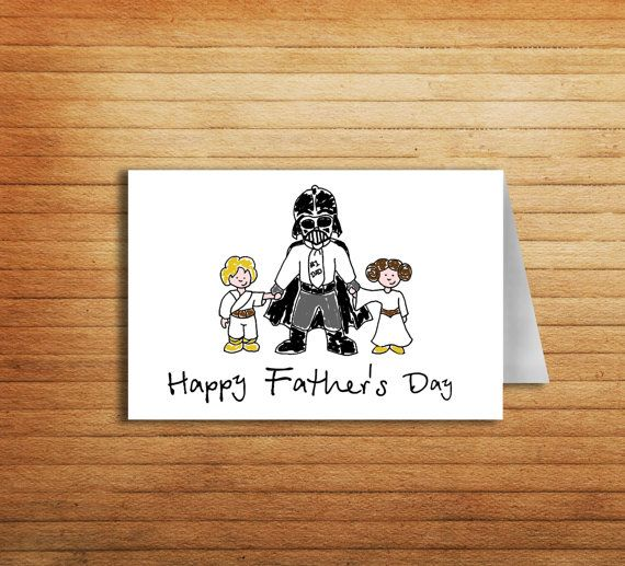 Star Wars Fathers Day Card From Daughter To Dad Gift Darth
