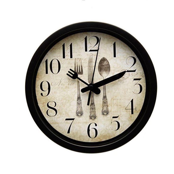"8"" Round Vintage Wall Clock good for Kitchen or Restaurant  #VintageRetro"