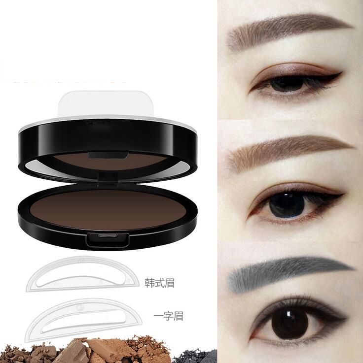 2017 OEM Wholesale Make up Fashion Eyebrow Stencil Powder Stamps