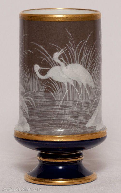 Antiques Atlas - Meissen Or Chelsea Pate Sur Pate Vase