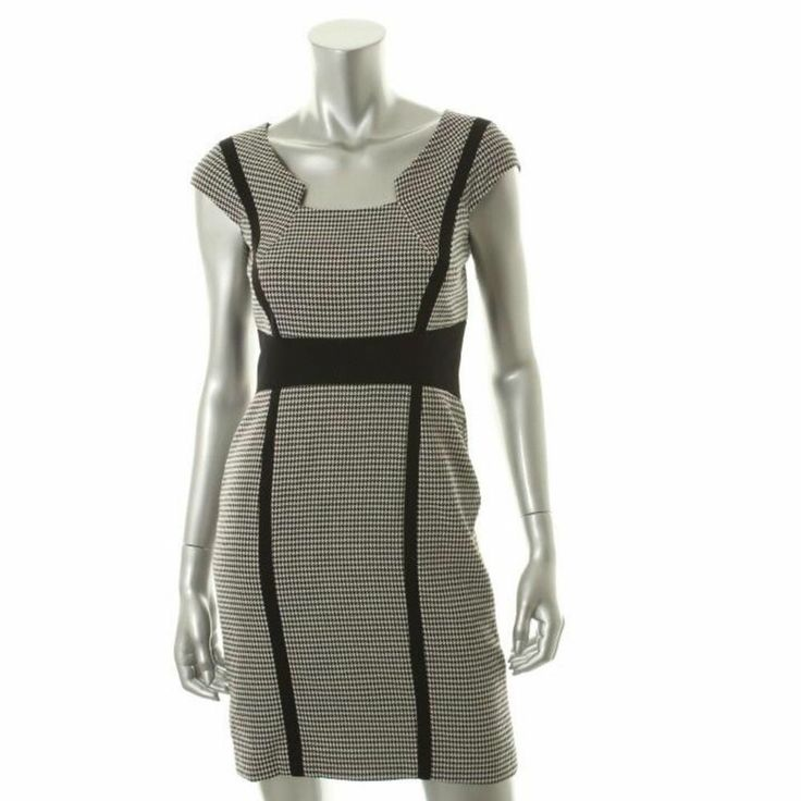 Tahari Pattiann Black and White Wear-to-Work Dress, 12P, $56.00CAD + shipping (Reg. $129.00) http://stylenstuff.ca/products/tahari-pattiann-black-and-white-wear-to-work-dress-12p