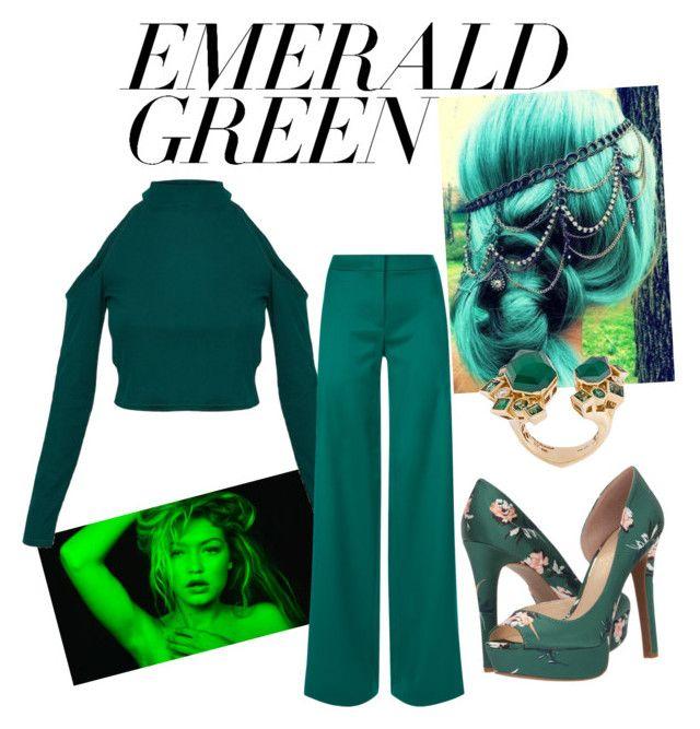 """Emerald Green"" by drumeaclementina on Polyvore featuring La Perla, Jessica Simpson, Stephen Webster and emeraldgreen"