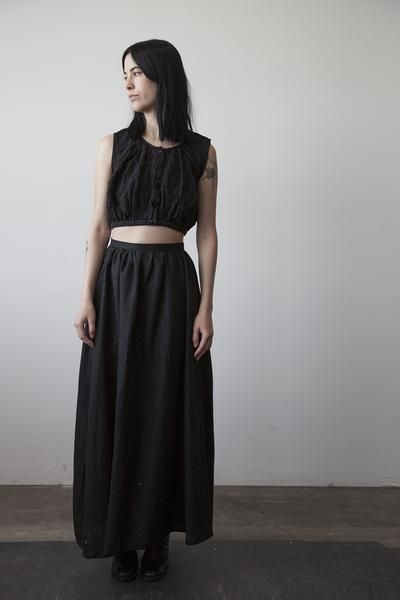 Florence Linen Skirt - Black  by Ovate