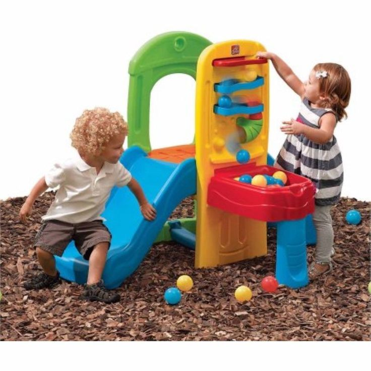 Toddler Outdoor Playset Kids Plastic Balls Slide Ladder Boys Girls Backyard Toy