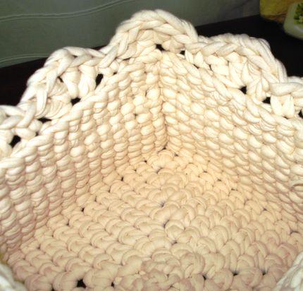 Cestos y Canastos Cuadrados Tejidos al crochet en Totora
