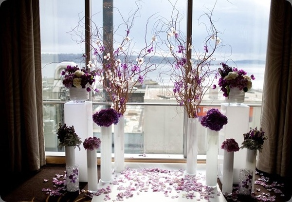 what about this creative wedding altar zone?