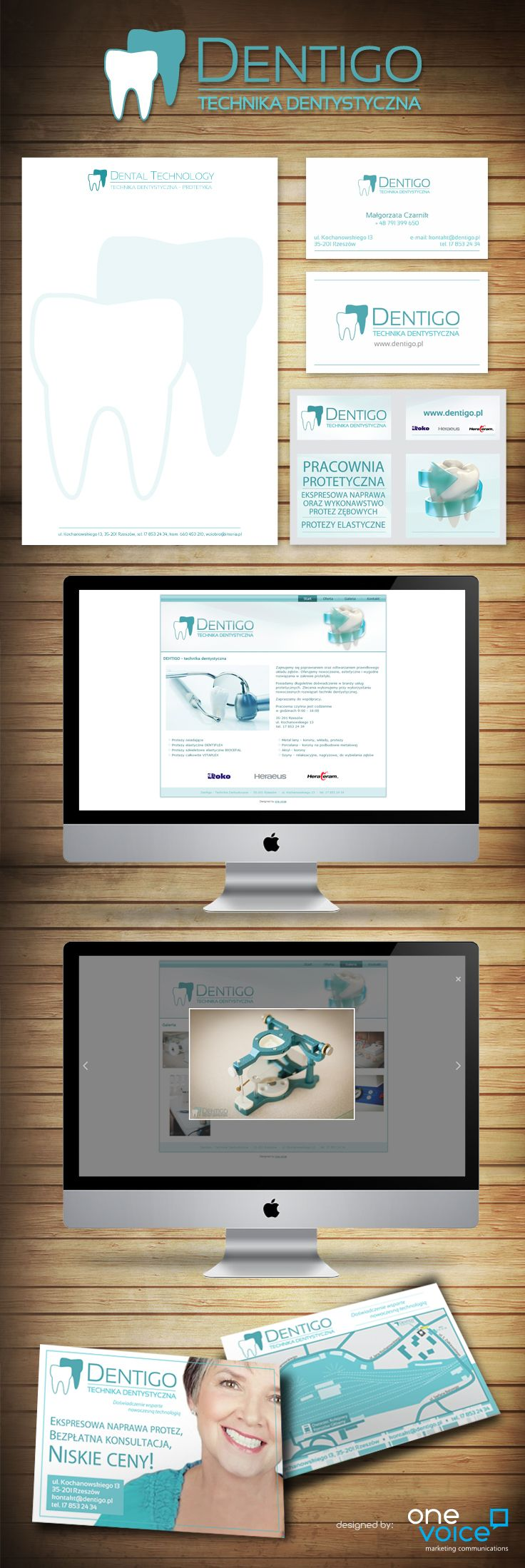 Dentigo. Logo, promotional materials and web design