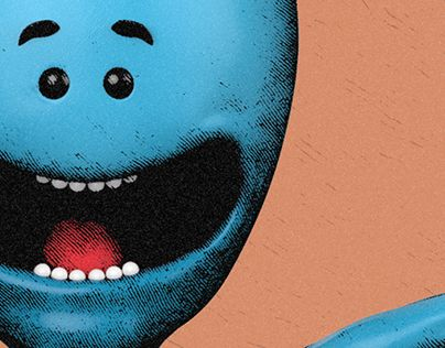 """Check out new work on my @Behance portfolio: """"Mr. Meeseeks - Existence is pain"""" http://be.net/gallery/34099724/Mr-Meeseeks-Existence-is-pain"""
