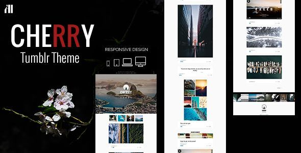 CHERRY - A #Tumblr Theme Made for Beautiful Large Posts & Photos