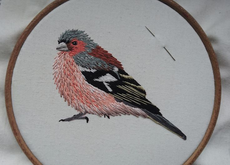 https://www.craftjitsu.com This video shows how to hand embroider a chaffinch, the skills can be used for any bird or for that matter any kind of embroidery....