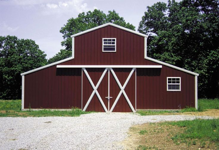 Barn red siding red barn w white trim barn red for Red metal barn