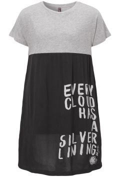 No Doubt. Just Dots! - Girls | Dress | Fashion | Grey | Black | Letter | Print | New Collection