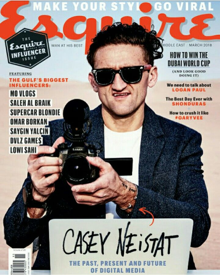 175338143d Casey Neistat on the cover of Esquire magazine