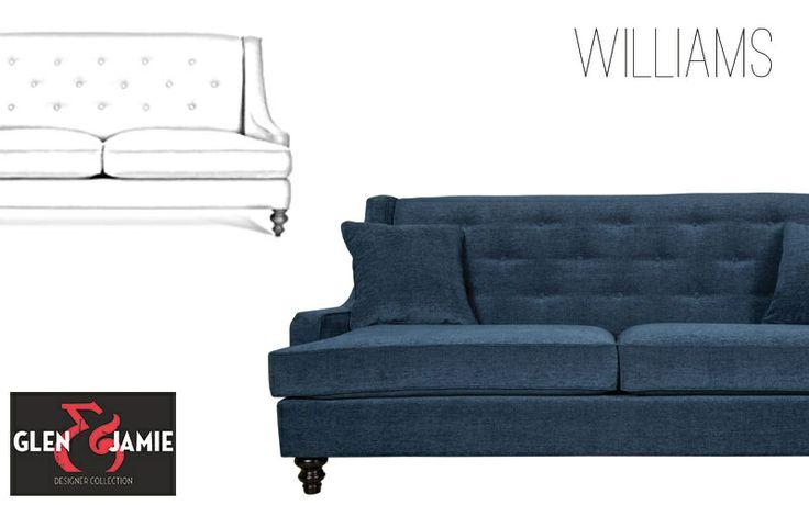 Williams sofa from Glen and Jamie's designer collection #GlenandJamie #furniture #design #sofa