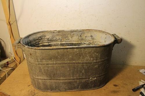 Lot A Old Galvanized Laundry Wash Tub Boiler Garden Planter Flower Pot
