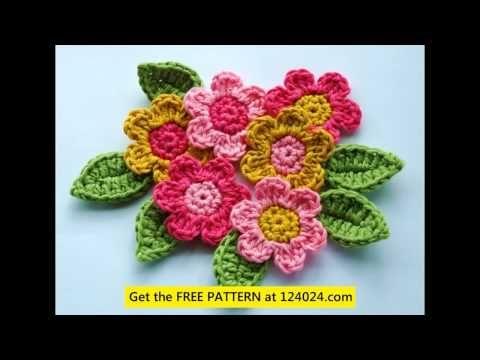 sunflower crochet crochet flowers tutorial how to crochet flowers for beginners - YouTube