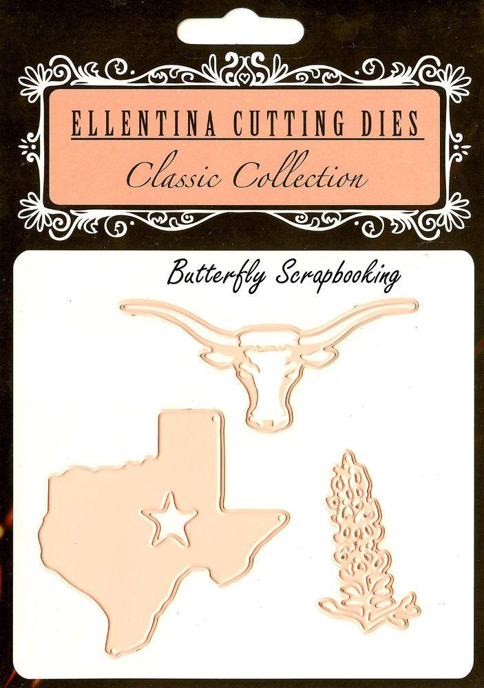 TEXAS STATE LONGHORN Craft Cutting Dies Elentina Dies DCM144 Tessler Crafts New #TesslerCrafts