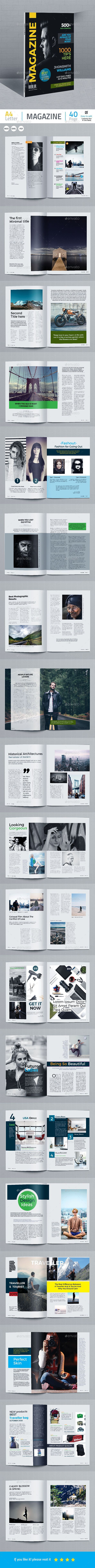 Multipurpose Magazine Template — InDesign INDD #easy #clean layout • Download ➝ https://graphicriver.net/item/multipurpose-magazine-template/18803354?ref=pxcr