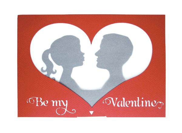 Valentine's Kiss movable card