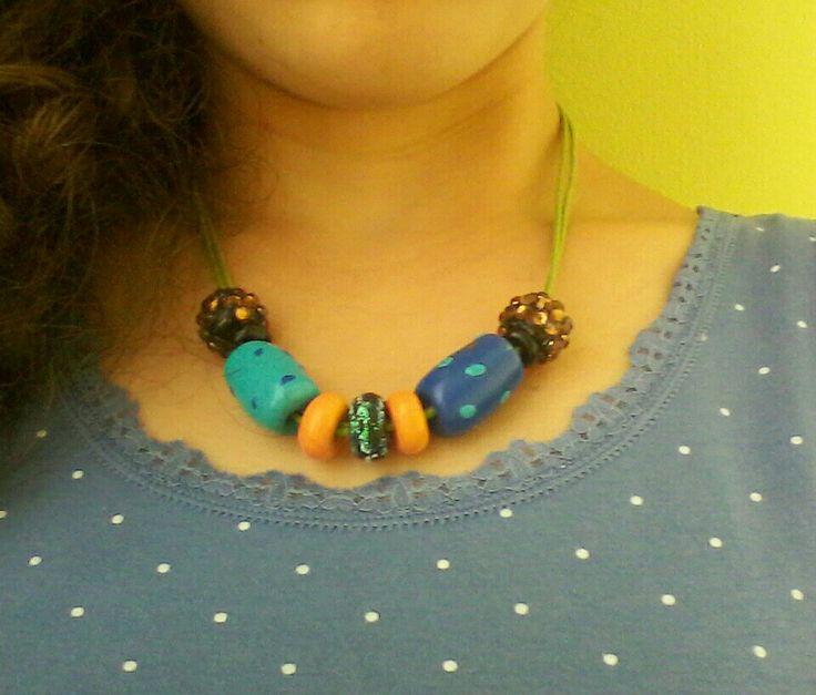 Rainbow necklace fimo 2 (I)