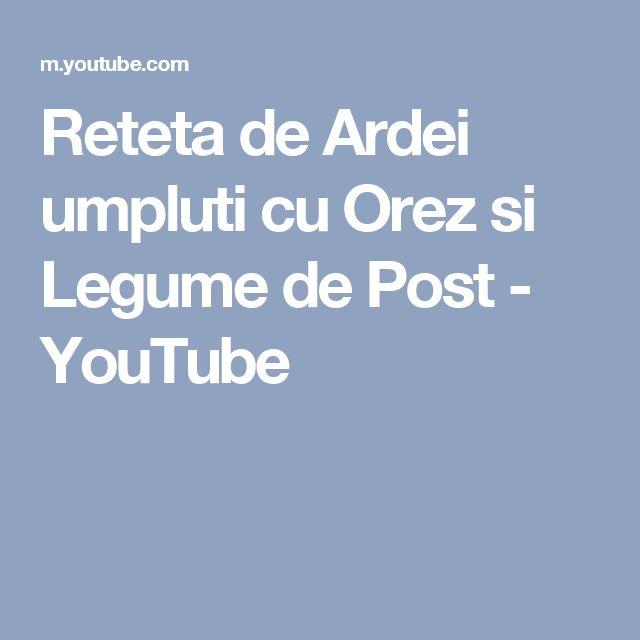 Reteta de Ardei umpluti cu Orez si Legume de Post - YouTube
