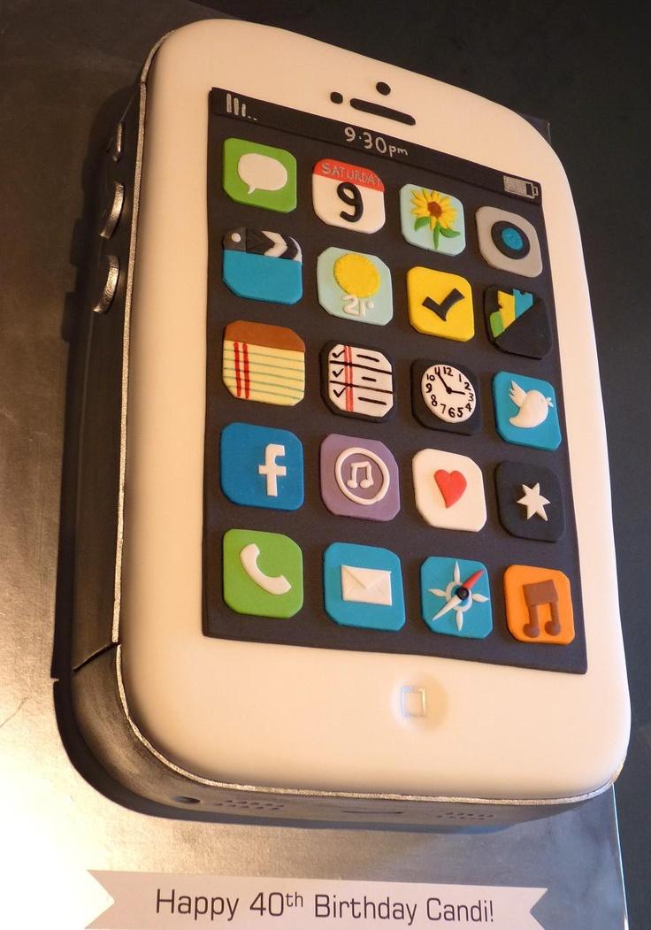 iPhone Cake love my sisters iphone cake she made!!!