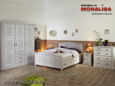 Mobila Dormitor stil Clasic Dulap haine in 3 Usi - Preturi Fabrica