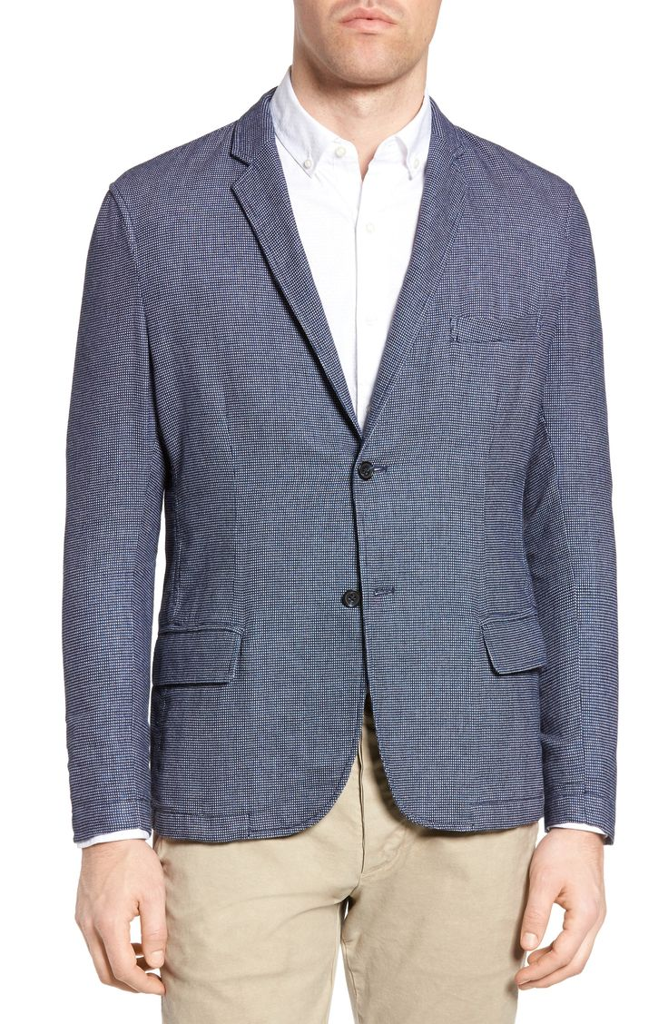 New Michael Bastian Deconstructed Blazer ,NAVY fashion online. [$198]newtopfashion top<<
