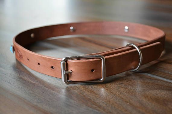 Leather Dog Collar Stamped Dog Collar Dog Collar Large Dog