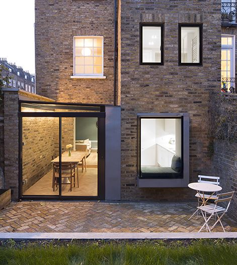 Modern Urban Infill: Side Infill Glass Extension And Window Seat To Grade II