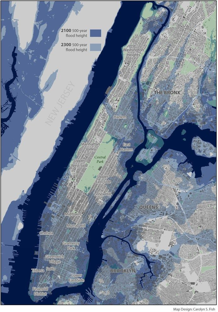 "Rising sea levels caused by a warming climate threaten greater future storm damage to New York City, but the paths of stronger future storms may shift offshore, changing the coastal risk for the city, according to a team of climate scientists. ""If we cause large sea-level rise, that..."