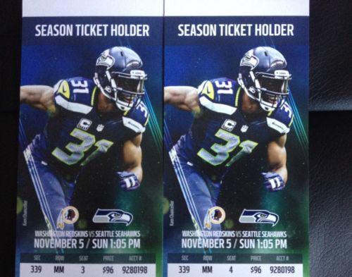 #tickets 2 Seattle Seahawks vs Washington Redskins Tickets 11/05/17 SEC 339 Row MM 3-4 please retweet
