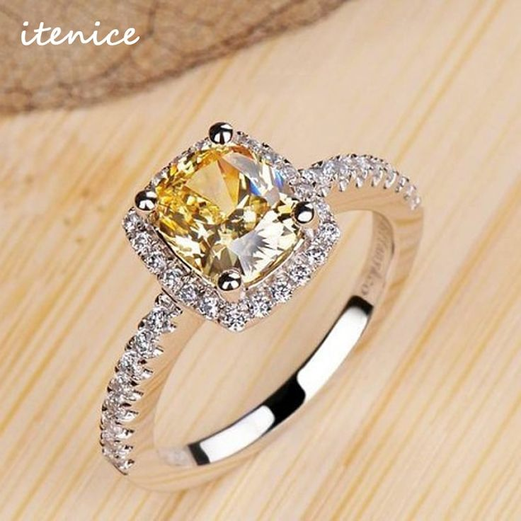 Luxurious 2 ct Zirconia Crystal Wedding Engagement Ring //Price: $10.95 & FREE Shipping //     #style