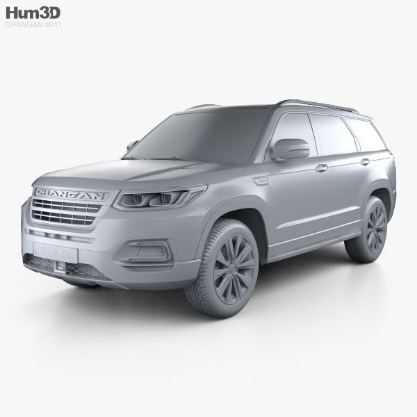 3d Model Of Changan Cs95 2017 With Images 3d Model Chang An