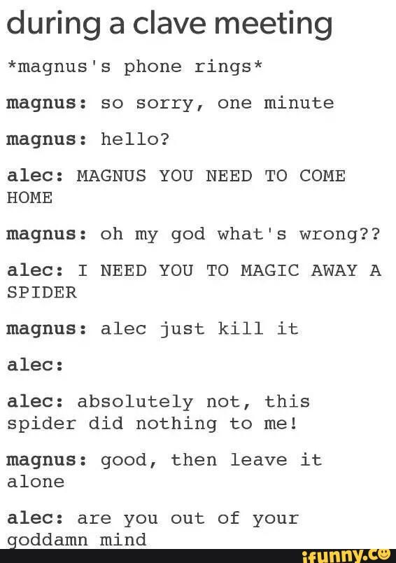 Alec is so innocent he wont even kill a spider