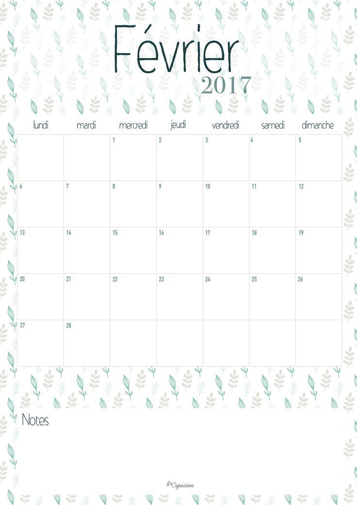 calendrier 2017 mensuel imprimable calendrier mensuel calendrier 2017 ...
