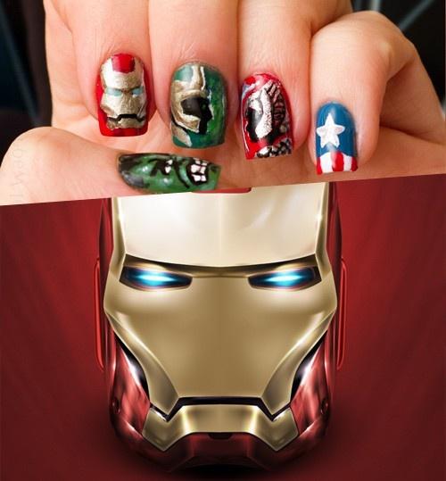25+ Beautiful Iron Man Nails Ideas On Pinterest