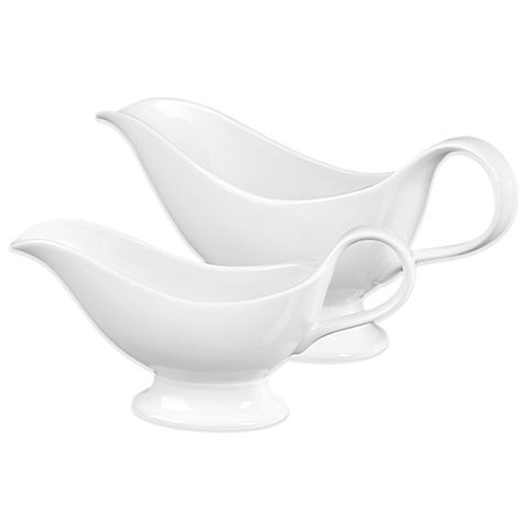 The Denmark Tools for Cooks Gravy Boat Set from Tabletops Unlimited's Oven to Table collection is contemporary in style and versatile in design. Crafted of break-resistant vitrified porcelain, these gravy boats deliver restaurant-quality craftsmanship.