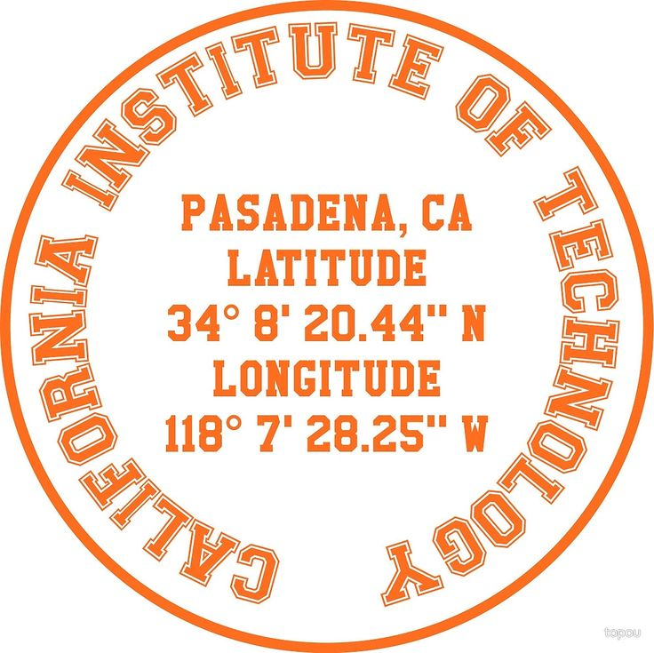California Institute of Technology Benchmark (orange text) benchmark on t-shirts, lightweight hoodies, phone cases, laptop cases, laptop sleeves, throw pillows, tote bags, studio pouches, and stickers. Check out our selection!