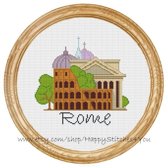 Cross Stitch Pattern PDF Rome city DD0154