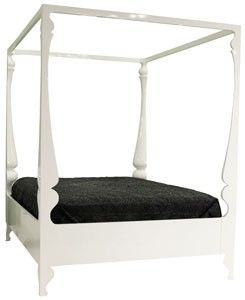 white Louis four poster bed